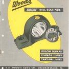 Wood's Life Lube Ball Bearings Catalog / Bulletin Vintage 1957