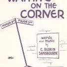 Waiting On The Corner Sheet Music Piano Solo Vintage Pro Art