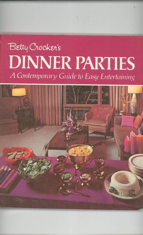 Betty Crockers Dinner Parties Cookbook Vintage First Printing