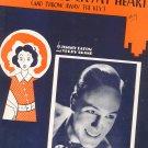 I'M Gonna Lock My Heart And Throw Away The Key Sheet Music Vintage Shapiro Bernstein & Co.