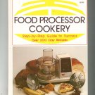Food Processor Cookery Cookbook Step By Step 0916752305