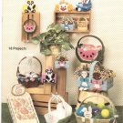 Bunches Of Baskets by Gina Woods Book 122 Needlework For Plastic Canvas Craft