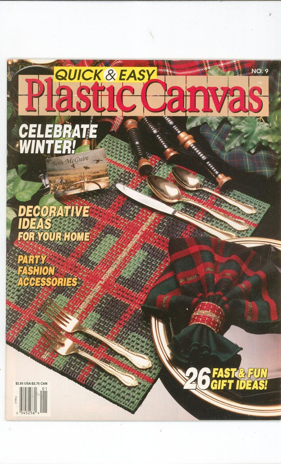 Quick & Easy Plastic Canvas Magazine Back Issue Number 9 December / January 1991