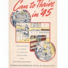Can To Thrive In '45 Cookbook Regional New York Rochester Gas & Electric RGE Vintage