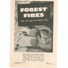 Vintage Forest Fires & How You Can Prevent Them Brochure 1945 War Advertising & Information