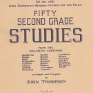 Supplementary Material Fifty Second Grade Studies John Thompson Vintage Willis Music Company