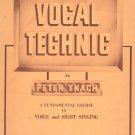 Vocal Technic by Peter Tkach Teacher's Manual Music Book