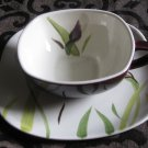 Red Wing Pottery Cup And Saucer Iris Pattern Hand Painted Very Nice