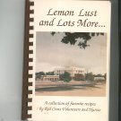 Lemon Lust and Lots More Cookbook Regional by Red Cross Volunteers and Nurses Rochester New York