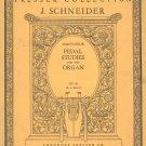 J. Schneider Forty Four Pedal Studies Organ Op. 48 Presser 302 Collection Vintage