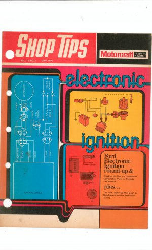 Ford Motorcraft Shop Tips Vintage May 1976 Volume 14 Number 4