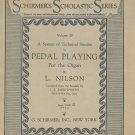 Schirmer's Scholastic Series Technical Studies Pedal Playing Organ Volume 29 Nilson Vintage