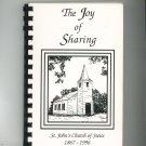 The Joy Of Sharing Cookbook Regional St. John's Church of Swiss MO 1996