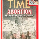 Time Magazine April 6 1981 Back Issue Abortion Battle