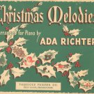 Christmas Melodies Arranged For Piano By Ada Richter Vintage Presser Co.