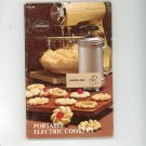 Sunbeam Portable Electric Cookery Cookbook By Bonnie Brown 0875020089