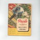 National Presto Model 50 Cooker Manual and Recipe Book Cookbook Vintage