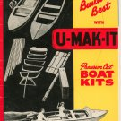 Build The Best With U Mak It Precision Cut Boat Kits Vintage 1951