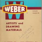F Weber  Vintage Catalog Volume 900 1962 Artists and Drawing Materials