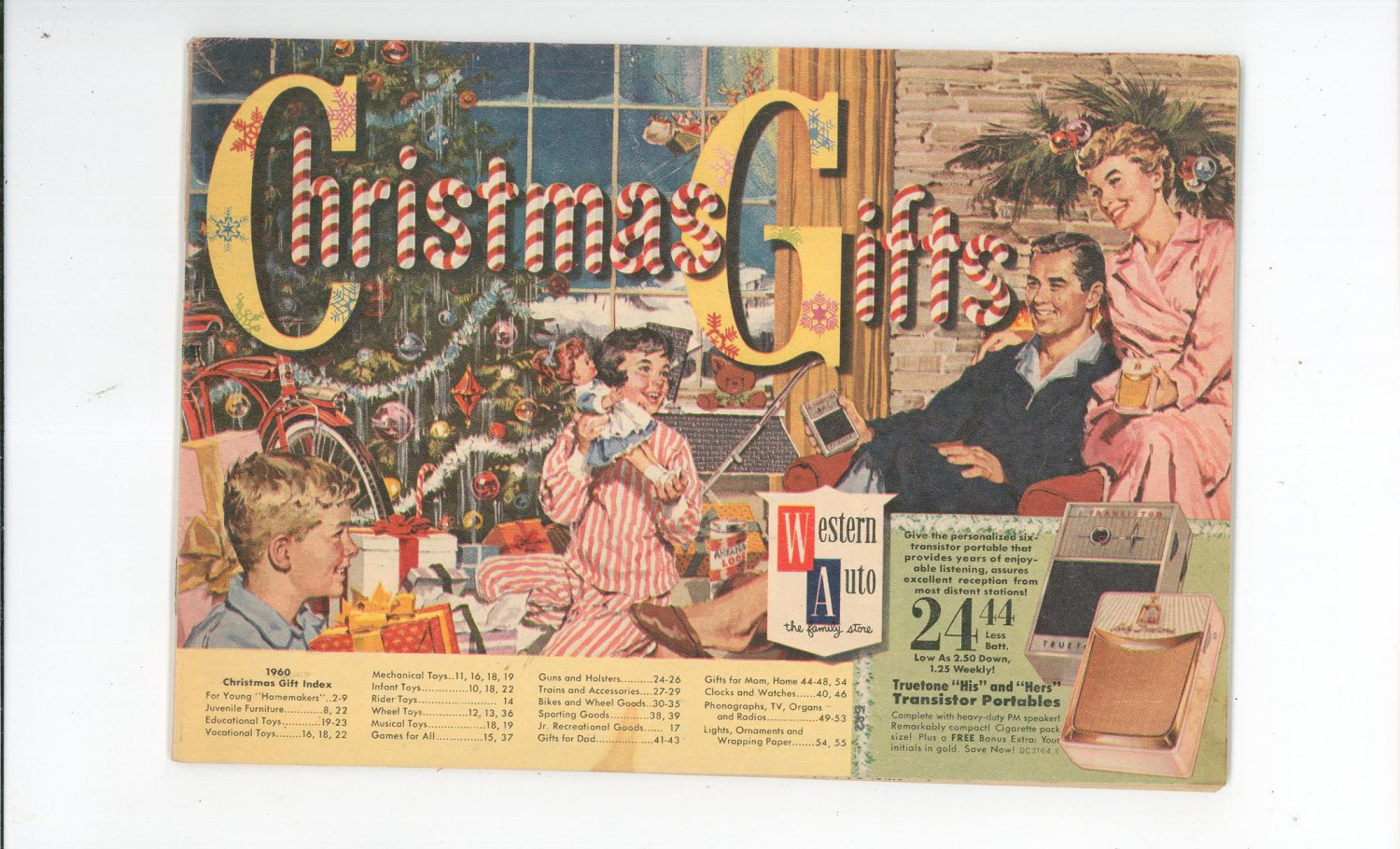 Western Auto Sales >> Christmas Gifts Western Auto Catalog Vintage 1960 Childrens Toys Metal Cars Tricycles Appliances