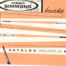 Robert Simmons Brushes Vintage Catalog Artist 1956 Number 57