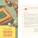 Mary Blake Favorite Recipes Cookbook Vintage 1954 Carnation Evaporated Milk With Letter