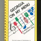 Georgia On My Menu Cookbook Regional Junior League 096199830x