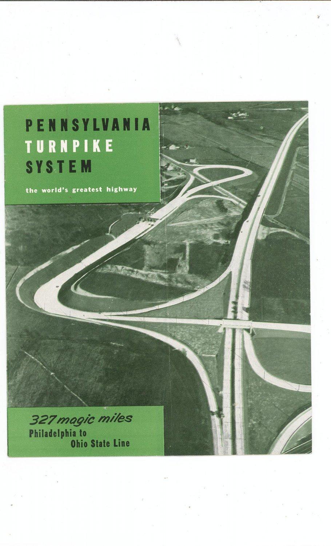 Vintage Pennsylvania Turnpike System The World's  Greatest Highway Travel Brochure