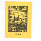 Vintage York County Maine Welcomes You Travel Guide 1955