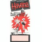 1955 Summer Holiday In Havana Nassau Vintage Brochure AAA