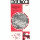 Houlton Maine With Maps Vintage Brochure