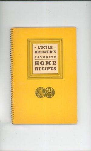 Vintage Lucile Brewer's Favorite Home Recipes Cookbook Grange 1940