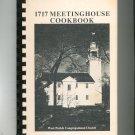 1717 Meetinghouse Cookbook Regional West Parish Church Massachusetts