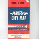 Vintage Official Arrow City Map Rochester And Vicinity