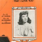I'M Confessin That I Love You Sheet Music Vintage Bourne Inc.