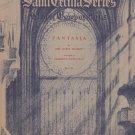 Saint cecilia Series Fantasia Organ Sheet Music Vintage Number 268 H. W. Gray