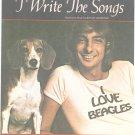 I Write The Songs Sheet Music Vintage John Brimhall Easy Organ Barry Manilow