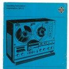 Telefunken Magnetophon 204 U Operating Instructions / Manual Vintage Reel To Reel