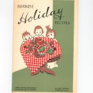 Favorite Holiday Recipes Cookbook Regional New York Rochester Gas & Electric Vintage 1951 Christmas