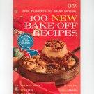 Pillsbury Bake Off Cookbook 100 Prize Winning 15th Vintage 1964