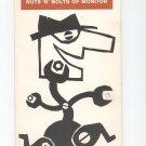 Nuts N Bolts Of Monitor Vintage NBC Radio Network Sales / Advertising Brochure