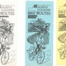 Vintage Lot Of New York State North Country Bike Routes Pamphlets Plus Map
