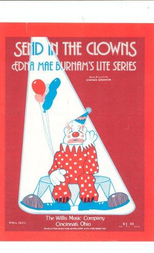 Send In The Clowns Sheet Music Edna Mae Burnam's Lite Series by Sondheim