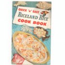 Quick And Easy Riceland Rice Cookbook Pamphlet