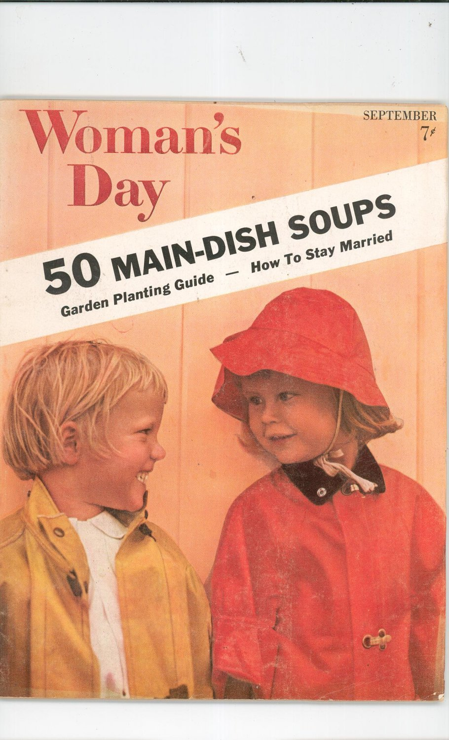Woman's Day Magazine September 1957 With Collector's Main Dish Soups Cookbook