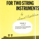 Beautiful Music For Two String Instruments by Samuel Applebaum Two Violins Volume III