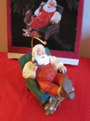 Hallmark Keepsake Relaxing Moment Coca Cola Santa 1994 With Box