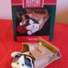 Hallmark Keepsake Meow Mart Cat In Bag 1990 With Box