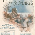 The Bells Of St. Mary's Sheet Music Vintage by Emmett Adams