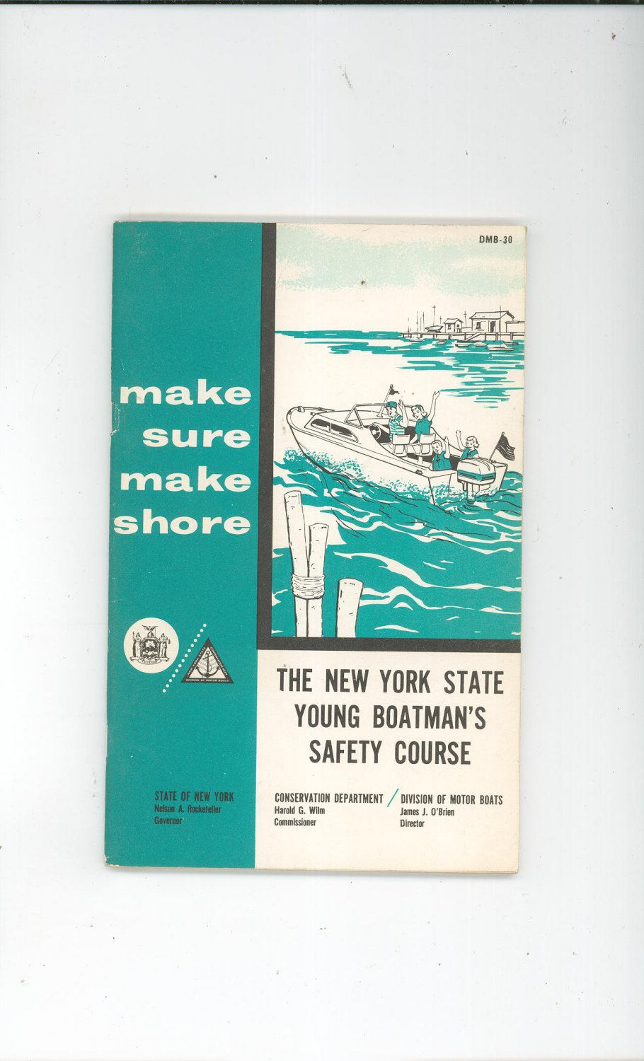 Vintage New York State Young Boatman's Safety Course Rockefeller Governor